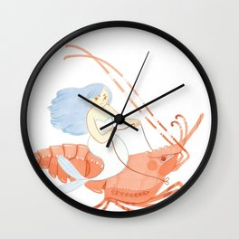 The Magnificent Shrimp Rider Wall Clock
