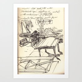 Notes and sketch Art Print