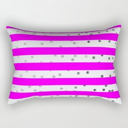 Pink and white stripes Rectangular Pillow