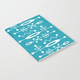 Mid Century Modern Radioactive Surfer 251 Turquoise Notebook