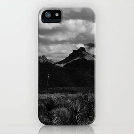 Dramatic Clouds over Mountain Range in Big Bend iPhone Case