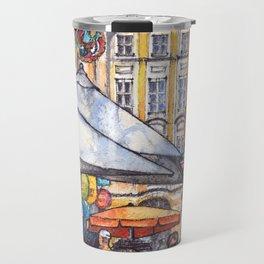 Innsbruck ink & watercolor illustration Travel Mug