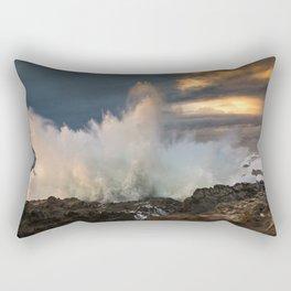 Huge Monster Waves at Shore Acres State Park, Oregon Rectangular Pillow