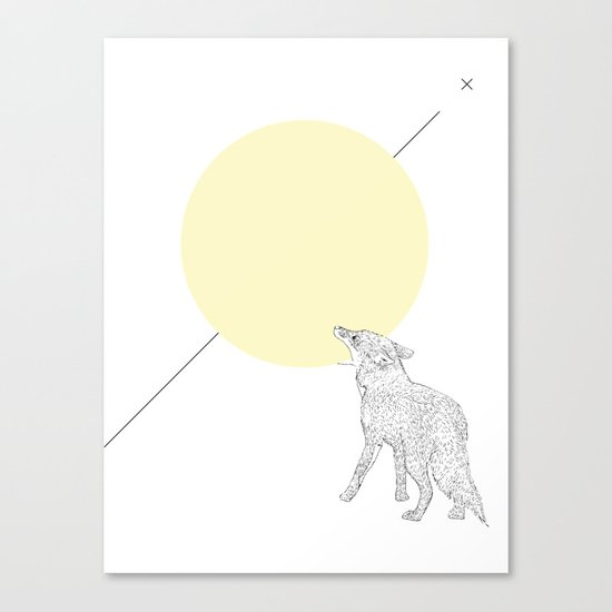 Bite the moon Canvas Print