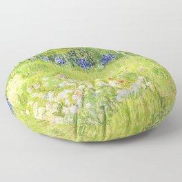 Vincent van Gogh - Daubigny's Garden - Digital Remastered Edition Floor Pillow
