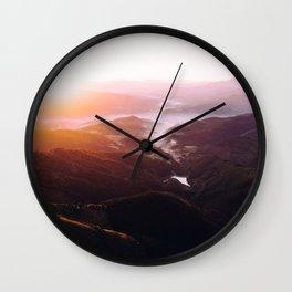 Morning Glory Mountain Landscape Wall Clock