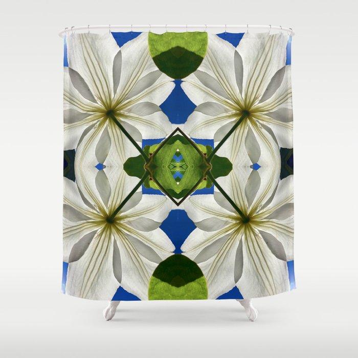 Clematis Solaris Shower Curtain