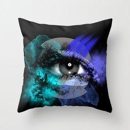 Eye of a color Throw Pillow