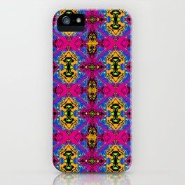 Psychedelic Kaleidoscope Cabbage Pattern iPhone Case