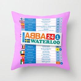 Eurovision '74 Throw Pillow