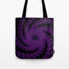 Purple Spiral Fractal Design Tote Bag