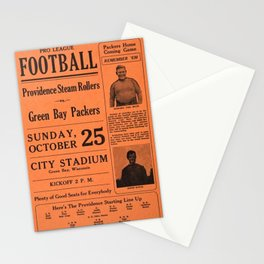 1931 Providence Steam Rollers Advertising Football Game Poster Stationery Cards