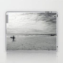 surfer on solana beach, san diego, california Laptop & iPad Skin