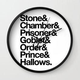 Stone & Chamber & Prisoner & Goblet & Order & Prince & Hallows Wall Clock