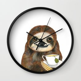 George Enjoys a Two Hour Elevenses Wall Clock