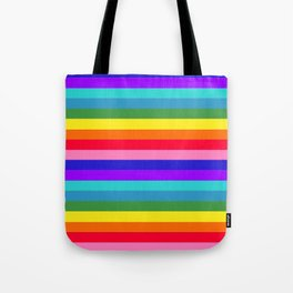 Stripes of Rainbow Colors Tote Bag