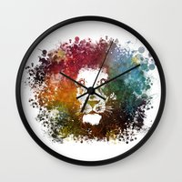 lion king Wall Clocks featuring Lion King by jbjart