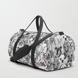 just dogs coral mint Duffle Bag