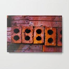 Bricks in Dong Hoi Metal Print