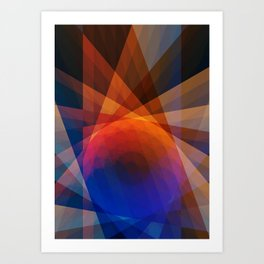 A Receptive Mind is Connected Art Print