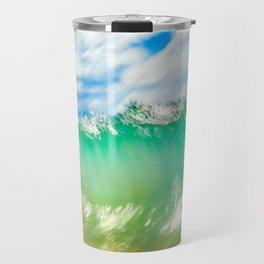 Slow shutter of wave in Maui Travel Mug