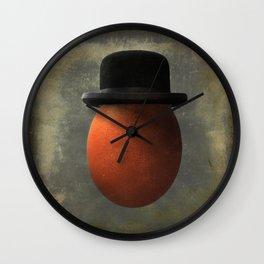 Vintage Egg in Bowler Hat Wall Clock
