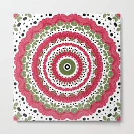 Rosy dreams. Kaleidoscope. Metal Print