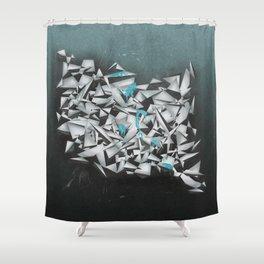 Aquamarines Shower Curtain