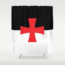 Knights Templar Flag Shower Curtain