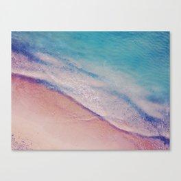 Turquoise - Aerial Beach Canvas Print