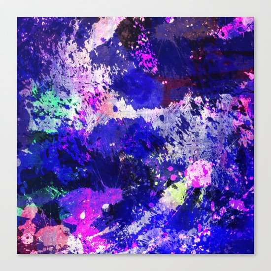 Freedom - Abstract In Blue And Purple Canvas Print