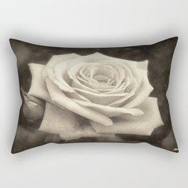 Pink Roses in Anzures 4 Antiqued Rectangular Pillow