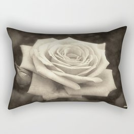 Pink Roses in Anzures 4 Antiqued Rectangular Pillow