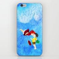 ponyo iPhone & iPod Skins featuring Ponyo and Sosuke by foreverwars