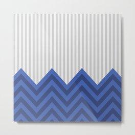 DeSign TRB blue Metal Print