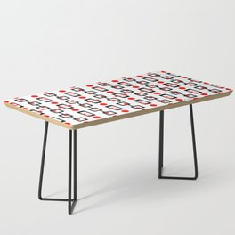 Circles Squares Black Red White Coffee Table