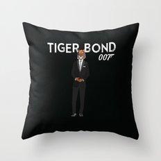 Tiger Bond Throw Pillow