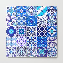 Moroccan Tile islamic pattern Metal Print