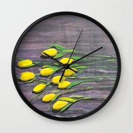 """Yellow Tulips"" Wall Clock"