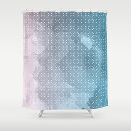 Geometric Aquarelle Shower Curtain