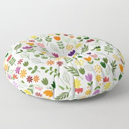 Scandinavian Style Flora & Fauna Pattern Floor Pillow