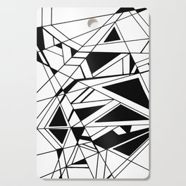 Abstract Black and White Cutting Board