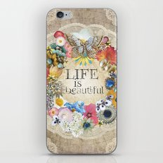 Life Is Beautiful iPhone & iPod Skin