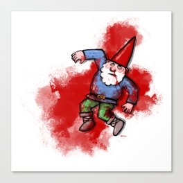 Crushed Gnome Canvas Print