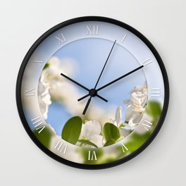 Flowers of Cerasus cherry tree Wall Clock