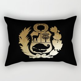 Peru Golden Shield Rectangular Pillow