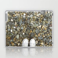 Brown pebbles and silver shoes Laptop & iPad Skin