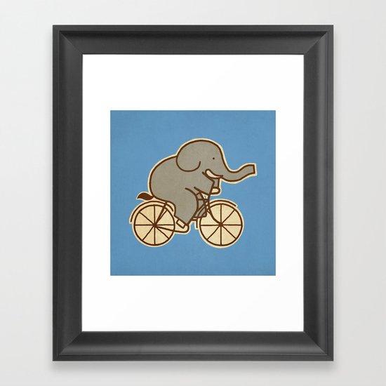 Elephant Cycle - colour option Framed Art Print