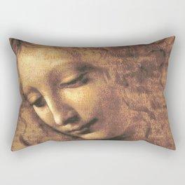 Head of a Woman - Leonardo Da Vinci Rectangular Pillow