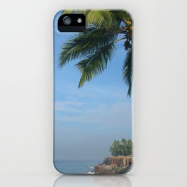 Palm Trees on the Cliff Varkala iPhone Case